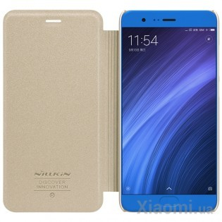 Чехол книжка Nillkin Sparkle Leather XIAOMI Mi Note 3 SP-LC XM-NOTE 3 Gold