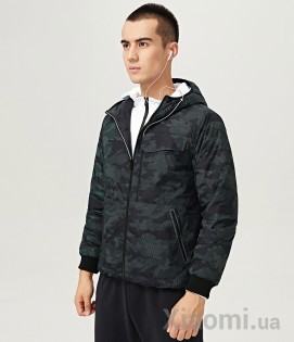 Двусторонняя куртка Uleemark double-sided wear men's down jacket Green-Black XL