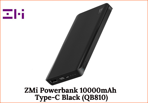 ZMi powerbank 10000mAh Type-C Black (QB810)